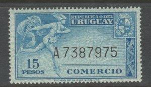 Uruguay revenue Fiscal stamp 10-9-20 MNH Gum