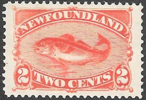 Newfoundland Scott Number 48 VF H