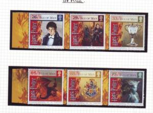 Isle of Man  Sc 1121-6 2005 Harry Potter Goblet of Fire stamp set mint NH