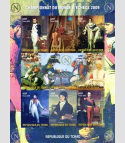 CHAD 2009 Napoleon Bonaparte Play Chess & Family Sheet Imperforated mnh.vf