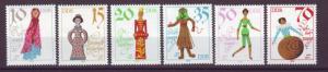 J20554 Jlstamps 1979 germany ddr set mnh #2057-62 dolls