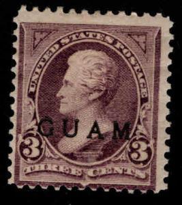 GUAM Scott 3 MH* 19th century overprint CV $140