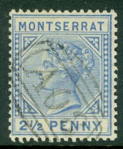 MONTSERRAT : 1885. Stanley Gibbons #10w. Very Fine, Used. Inverted Watermark.