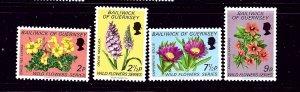 Guernsey 69-72 MNH 1972 Wild Flowers