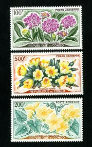 Congo Stamps # C2-4 VF Flowers OG NH