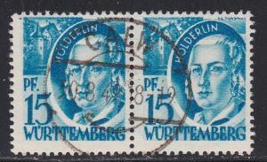 Germany - Wurttemberg # 8N19, Used Pair,