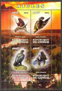 Congo 2013 Birds (2) Eagles MNH Cinderella !