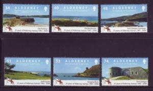 Alderney Sc 325-0 2008 stamp anniversary stamp set mint NH