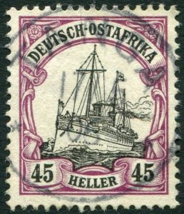 GERMAN EAST AFRICA-1905 45h Black & Mauve no watermark Sg 32 FINE USED V36333