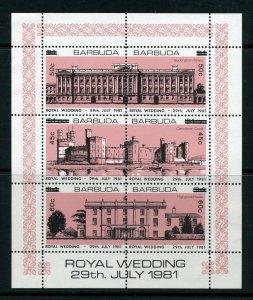Barbuda 1983 Royal Wedding Surcharge ERROR sheetlet - wrong values MNH