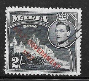 Malta 219: 2/- Mdina, Overprint, used, F-VF