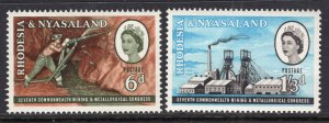 Rhodesia and Nyasaland 178-179 MNH VF