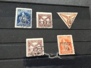 Fiume 1919 and surcharge stamps  Ref 50009
