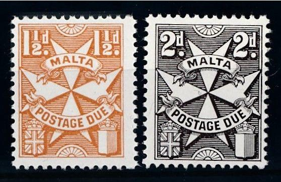 [68839] Malta 1970 Postage Due Perf. K13 3/4 coated paper MNH