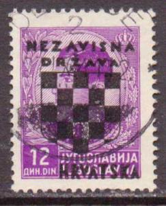 Croatia   #20  used  (1941)  c.v. $3.25