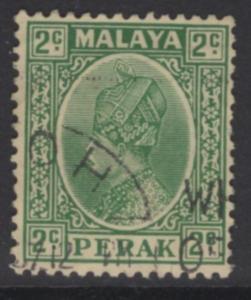 MALAYA PERAK SG89 1936 2c GREEN USED