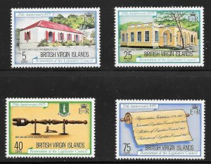 British Virgin Islands  (1975)  - Scott # 301 - 304, MNH