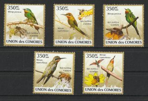 Comoro Islands MNH Set Merops Birds & Bees 2009