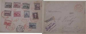CZECHOSLOVAKIA  EXPRESS FDC #142-51 PRAHA 1928 OCT 22