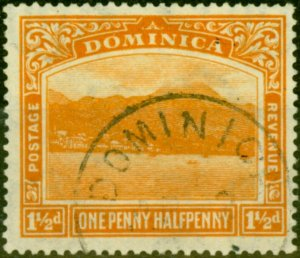 Dominica 1921 1 1/2d Orange SG64 Fine Used