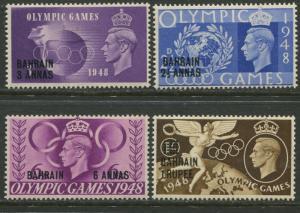 Bahrain-Scott 64-67 - Olympics Overprint - 1948 - MVLH - Set of 4  Stamp