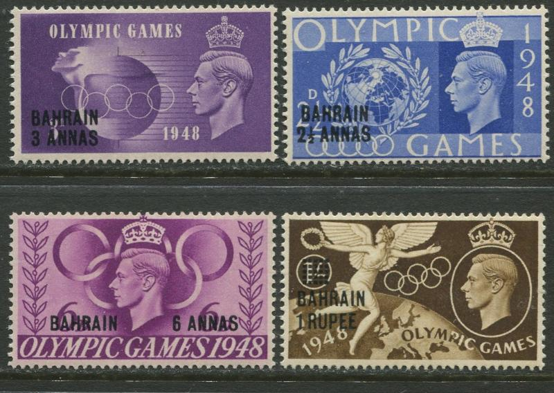 Bahrain-Scott 64-67 - Olympics Overprint - 1948 - MVLH - Set of 4  Stamp