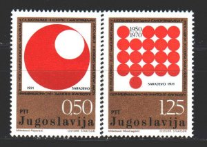 Yugoslavia. 1971. 1418-19. Sarajevo conference on self-government. MNH.