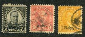 1929 issue #676, 678, 679 NEBR OVPTS ⭐⭐⭐⭐⭐⭐