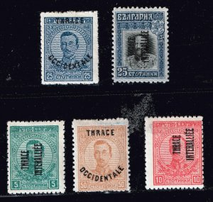 GREECE Thrace Stamp MH/OG OVPT STAMPS LOT #S2