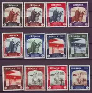 J21261 Jlstamps 1934 cyrenaica sets mh #59-64, c24-9 horses/airplanes