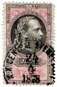 (I.B) Austria/Hungary Revenue : Stempelmarke 5kr