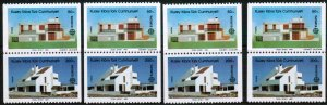 TURKISH CYPRUS 1987  - EUROPA BUILDINGS -  UMM - SET OF 4 FROM BOOKLET