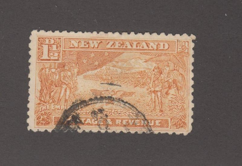 NEW ZEALAND # 101 1.5d LIGHT USED CAT VALUE $20++