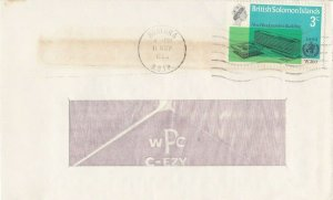 BC662) Br. Solomon Is. 1966 WHO Cover