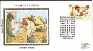 Great Britain 1984 British Council Technical Training Painting Sc 1069 Colora...