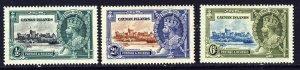 CAYMAN ISLANDS King George V 1935 Silver Jubilee Part Set SG 108 to SG 110 MINT