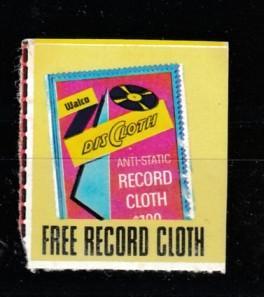 Free record cloth music vignette MNH **