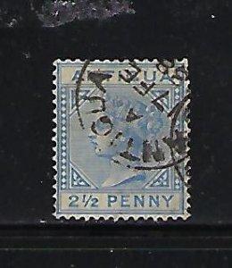 ANTIGUA SCOTT #14 1882-96  WMK 2 - 2 1/2P (ULTRA) USED