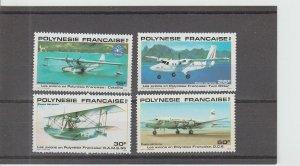 French Polynesia  Scott#  C180-C183  MNH  (1980 Aircraft)