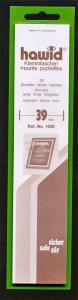 Hawid Stamp Mounts Size 39/210 BLACK Background Pack of 25