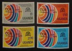 Uganda 270-73. 1979 ITU, Radio Waves, NH