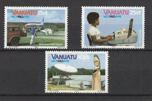 Vanuatu MNH 360,362-3 World Communications Short Set 1983