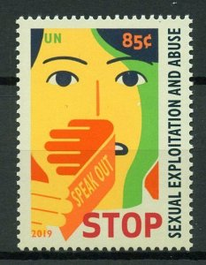 United Nations UN New York 2019 MNH Definitive Sexual Exploitation 1v Set Stamps