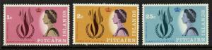 Pitcairn Islands 88-90 MNH International Human Rights Year