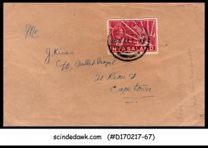 NYASALAND - 1944 envelope to CAPE TOWN with KGVI SG#133a stamp