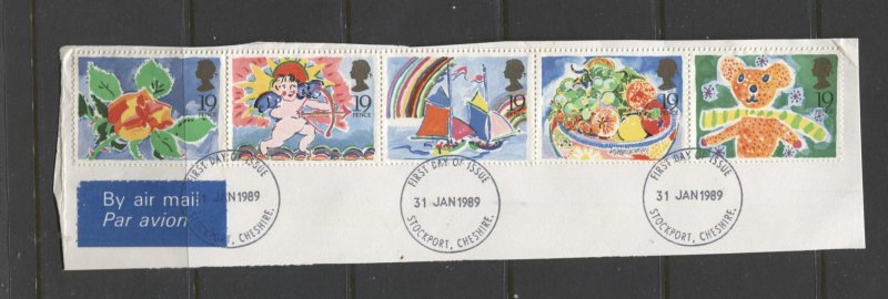 STAMP STATION PERTH GB #1243-1247 Special Occasions Strip of 5 Used