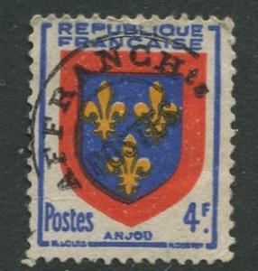 France - Scott 620 - General Definitive Issue -1949 - Used - 4fr Stamp