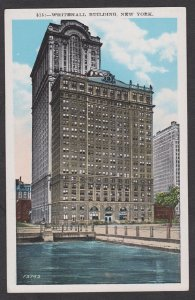 Unused Postcard:  New York City – Whitehall Building and Aquarium