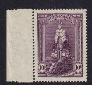 AUSTRALIA 1938 10s Robes Thin Paper MUH
