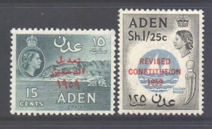 Aden Scott 63/64 - SG74/75, 1959 Revised Constitution Set MNH**